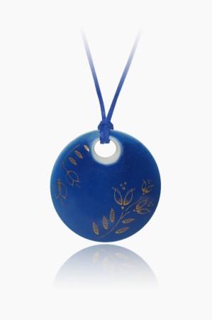 Hollóházi Porcelán nyaklánc Plano világos kék 9446-2797