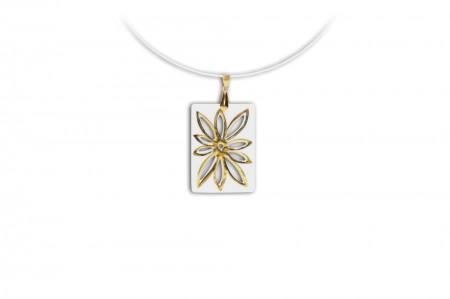 Hollóházi Porcelán nyaklánc Szélrózsa 9481-3002
