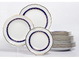 Pannónia 18 részes tányér szett 2478 Kék rózsa