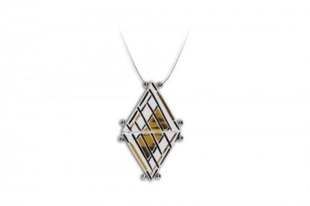 Hollóházi Porcelán nyaklánc Diamant 9476--2821