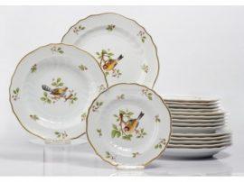 Pannónia 18 részes tányér szett 1932 Madaras