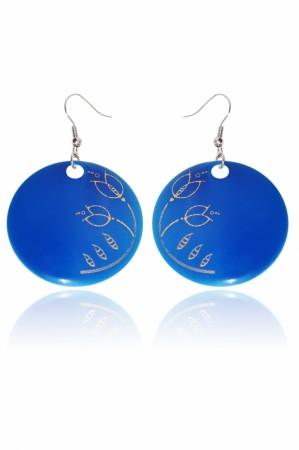 Hollóházi Porcelán fülbevaló Plano világos kék9446-2797