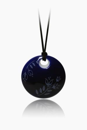 Hollóházi Porcelán nyaklánc Plano sötét kék 9446-2797