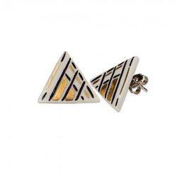Hollóházi Porcelán Fülbevaló Diamant 9494-2821