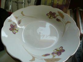 18 részes tányér szett arany szélel lila